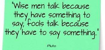 Wise Men Talk - Quote