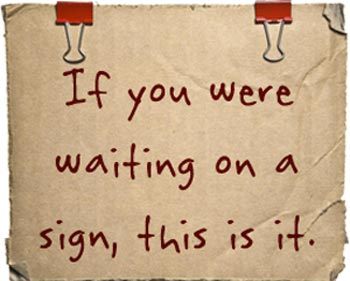 Random Acts of Kindness Ideas - If You Were Waiting For A Sign